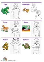 Auslan Children's Picture Dictionary - Volume 1 - Page Sample